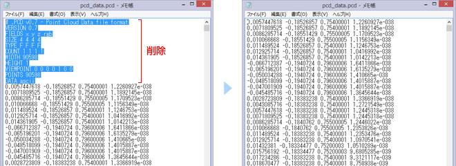 MeshLabでPCDデータをメッシュに変換、書き出し