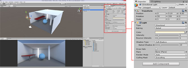 Unity備忘録》LightMapを使用して雰囲気のある影を作成